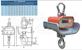 OCS-DC-F1,2,3T直視耐高溫吊鉤秤