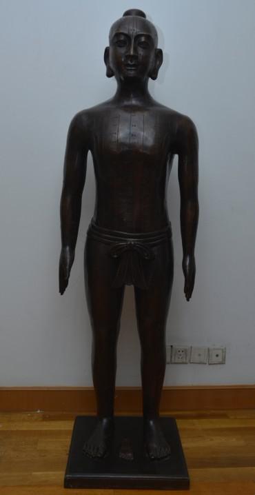 仿明代针灸铜人模型(真铜全铜、58黄铜材质)