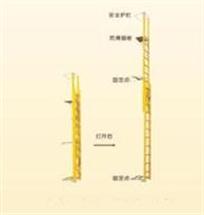伸缩式高压开关检修平台梯 绝缘梯