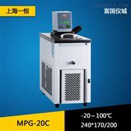 上海一恒MPG-20C制冷和加热循环槽 高低温循环水槽