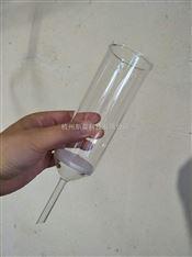 杭州斯晨 砂芯玻璃漏斗100ml/4# 漏斗垂熔漏斗 耐酸玻璃滤过仪器