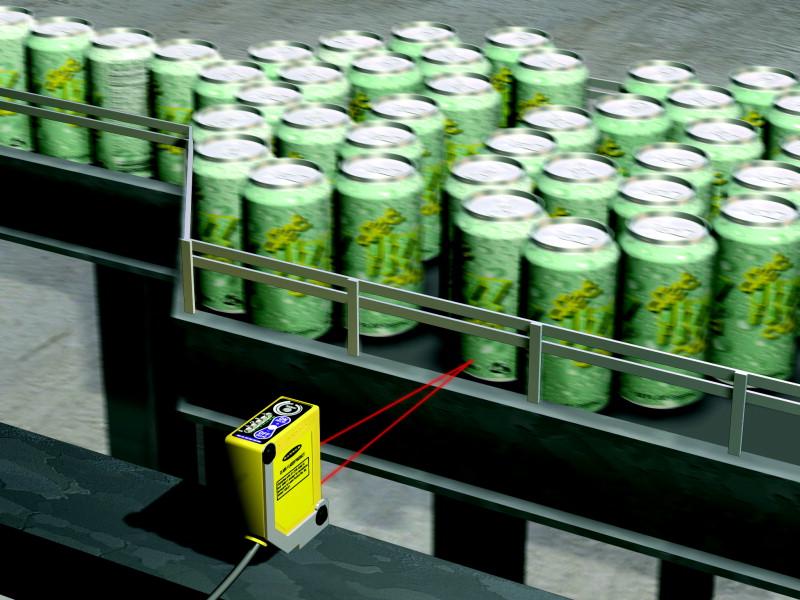 女性荫道流水图片_q60背景抑制传感器检测到罐子流水线停止并发送信号给控制下一道工艺