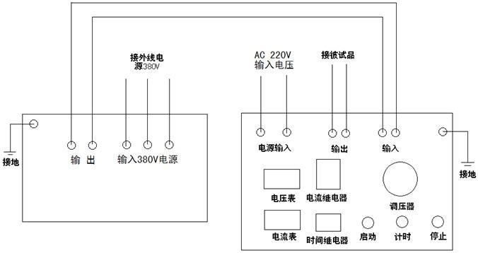 即三倍频发生器和三倍频控制装置,并设有过滤保护,电流表,三倍频输出