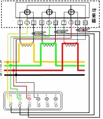 三相电路接线示意图