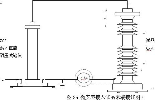 高压屏蔽微安表接入试品cx高压侧接线图