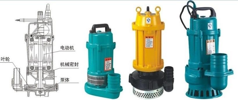 qdx小型潜水泵结构图