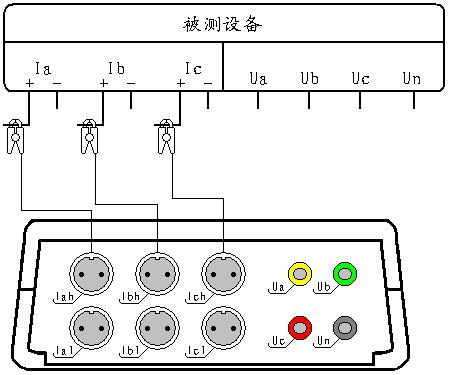 电流谐波测试接线图