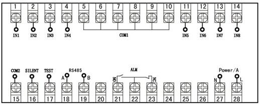 不共地;                  4,alm为继电器输出触点,用于外接报警音响.