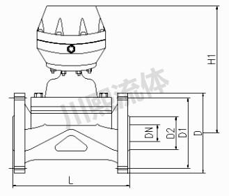 气动衬胶隔膜阀尺寸图
