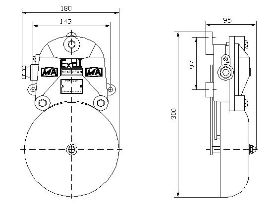 图1 外形安装尺寸 6 矿用隔爆型电铃,BAL1-127矿用隔爆型电铃(连击电铃)使用与维护 6.1 电源线必须与接线柱可靠固定,并保持规定的电气间隙与爬电距离。 6.2 铃声不清脆时,可旋转铃碗或扳动锤杆调节。 6.3 使用与维护过程中,应防止隔爆面碰撞或锈蚀。 警告:严禁带电开盖 7 矿用隔爆型电铃,BAL1-127矿用隔爆型电铃(连击电铃)故障分析与排除 电铃可能发生的故障与排除方法见表2 表2 故障与排除方法 故障现象 原因分析 处理方法 通电无铃响 1.